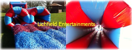 43ft, 70ft, 95ft, and 120ft Inflatable Obstacle Course for hire for children and adults