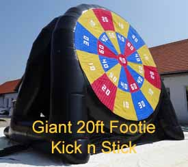 Large Football Kick and Stick Inflatable Game for Hire