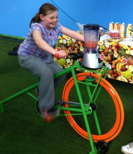 Eco friendly Smoothie Bike for hire in the Midlands
