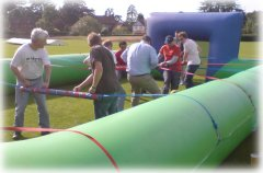 Human Table Football - perfect for any Olympic theme event
