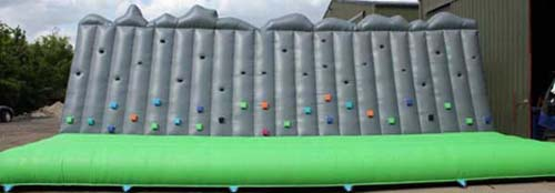 Inflatable climbing wall for hire