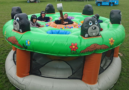 Inflatable bouncy Human Whack a Mole game for hire