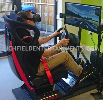 Race Simulator with virtual reality and full movement for hire