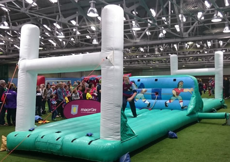 Rugby themed Bungee Inflatable game