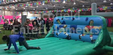 Rugby themed Bungee Run Inflatable