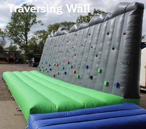 Traversing type inflatable Climbing Wall for hire