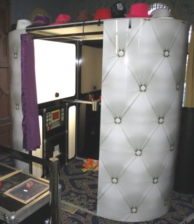 White Photobooth for hire - perfect for wedding receptions